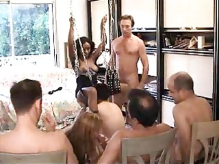 darksome and white french sweethearts team-fucked