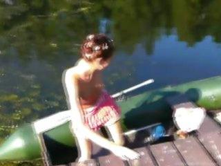 dilettante slovak natasha in the boat