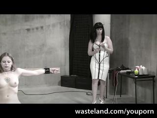 the white female-dominator - femdom lezdom scene