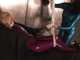 willful ladies in latex with diaphanous dicky