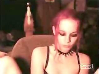 gothic floozy masturbating