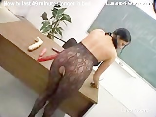 teacher drilled by student