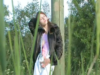 titty legal age teenager dildoing vagina in the