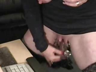 sub granny with giant clitoris has pleasure at