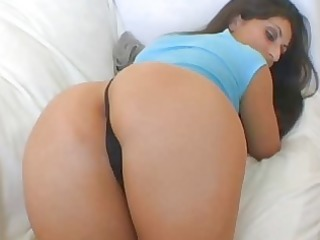 brunette hair with large a-hole acquires her bald