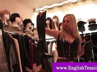 female-dominator getting wardrobe souvenirs