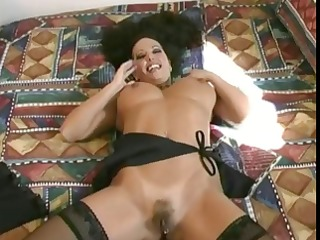 breasty dark brown non-professional makes her