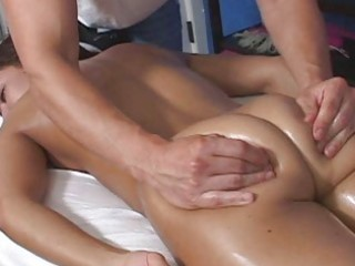 foxy brunette hair getting a a-hole massage
