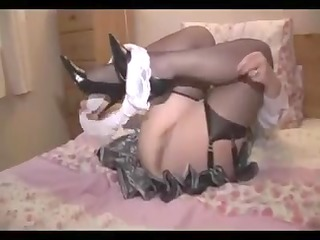 older disrobes and shows her ass