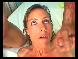 slutty mother i receives a double facial