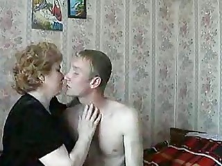 hawt blond aged lady shags with lascivious