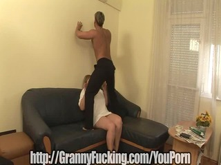 chuby granny is pounded