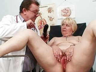 obese golden-haired mommy bushy fur pie doctor