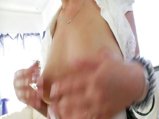 massive red sextoy in her opened anal