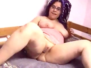 latin honey ex gf with glasses playing with her