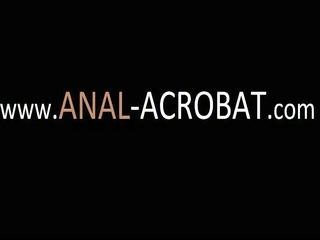 neat lesbo anal acrobats toying