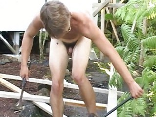 sexy homo man shows his meaty body in front of