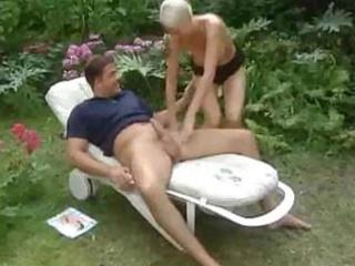 a fantasy in the backyard garden