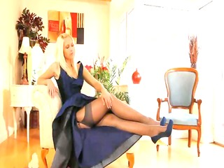 blue shoes and hawt petticoat and stocking