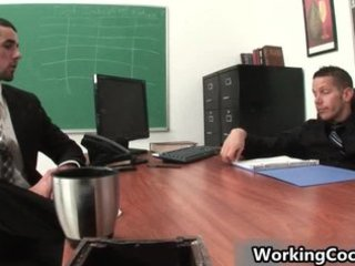 jake iron fucking and engulfing on office part10