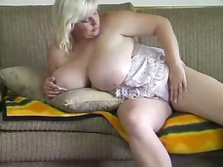 bulky blond playgirl receives nude and