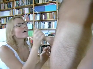 golden-haired anne makes aged sex tape