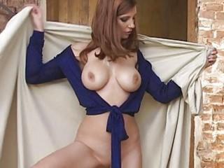 perverted dark brown with big scones in blue