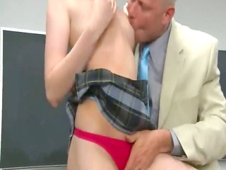 redhead group sex on the table