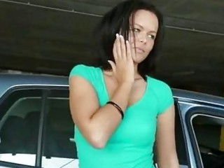 large scoops euro playgirl gangbanged in parking