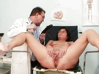 elder pierced cookie woman outlandish slit exam