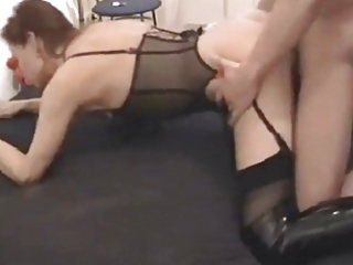 vehement non-professional fuck with boots honey