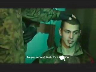 ragging the fresh army lad to engulf weenies