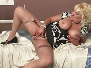 golden-haired momma with massive marangos in hot
