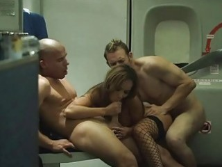 passengers share one exotic stewardess onboard