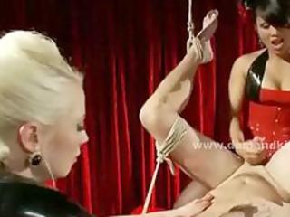 hawt mistresses take advantage of hard fastened