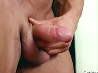 beafed muscle fellow jerking off rod part6