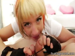 captivating golden-haired ladymans fucking mmf