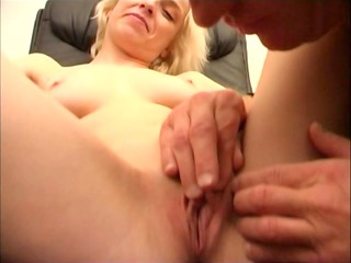 office secretary in hose exposed and drilled
