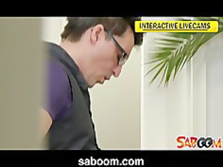 office three-some spy web camera episode
