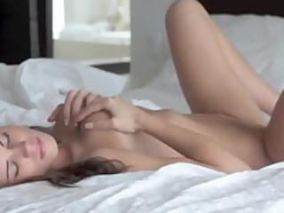 darkhair solo masturbation on couch