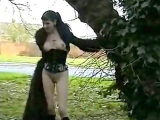 goth sweethearts public nudity and rude outdoor