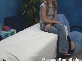 hawt gal in massage room