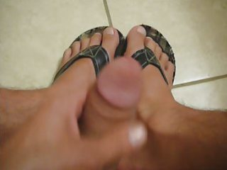 jerking foot fetish movie scene