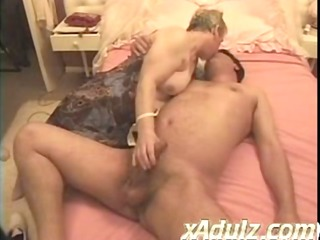 bulky granny acquires turned on watching repair