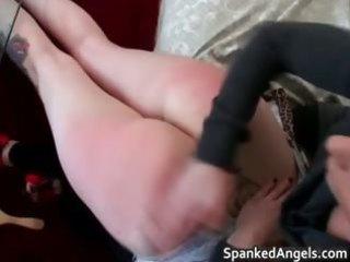 youthful dark brown skank receives bent over