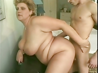 youthful lad and old big beautiful woman