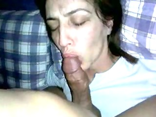 lewd spanish gf sucks and teases