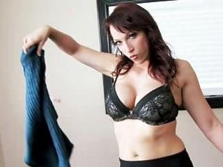 pornstar nicki hunter undresses out of her