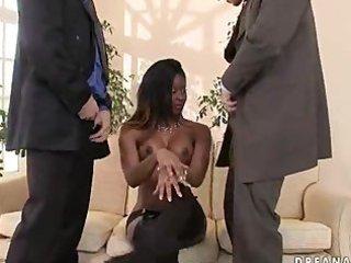 ebon gal jasmine receives large white jocks