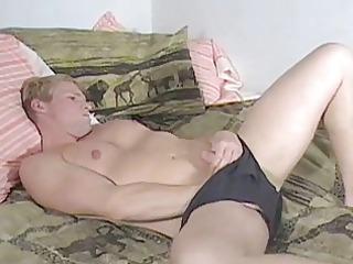 homo man slips fingers beneath panties